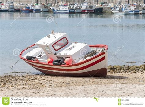 boat time in spanish wooden spanish fishing boat royalty free stock photo