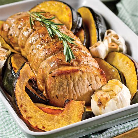 cuisine roti de porc r 244 ti de porc et courge au four recettes cuisine et