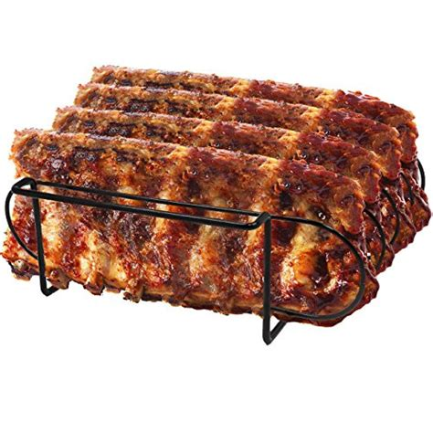 Grilling Rack Of Ribs by Sorbus 174 Non Stick Rib Rack Porcelain Coated Steel