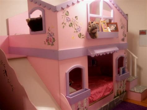 girls loft bed with slide bedroom castle slide bed unique princess bunk bed for girls