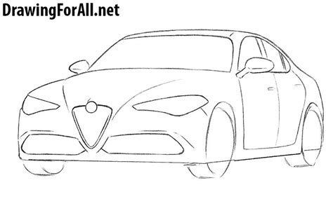 How To Draw A Drawingforall by How To Draw An Alfa Romeo Drawingforall Net