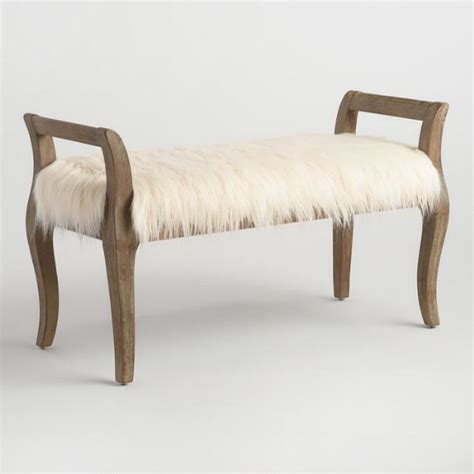 pink mongolian fur bench 10 affordable faux fur pieces for your home horses heels