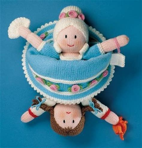 details about knitting pattern cinderella topsy turvy