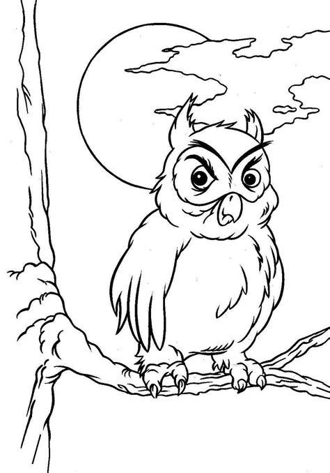Halloween owl coloring pages jpg