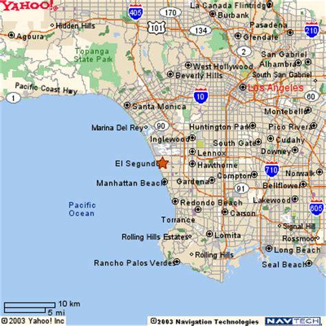 california map el segundo el segundo california map california map
