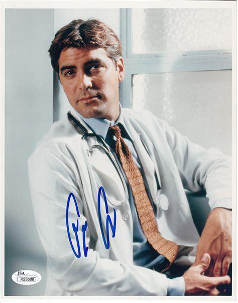 actor last name george george clooney autographed er 8x10 portrait photo jsa