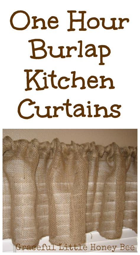 how to make burlap curtains one hour burlap kitchen curtain tutorial graceful little