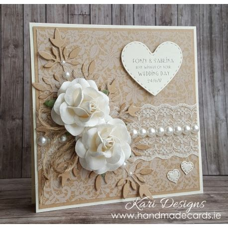 next day delivery wedding card beautiful vintage style wedding card we009