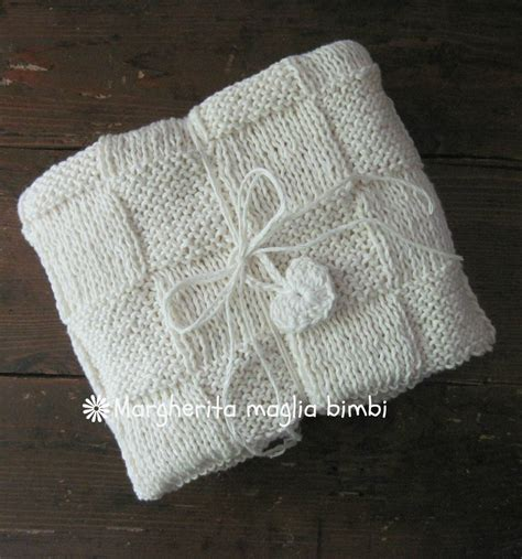 copertine neonato copertina baby neonato in cotone e lino lavorata ai ferri