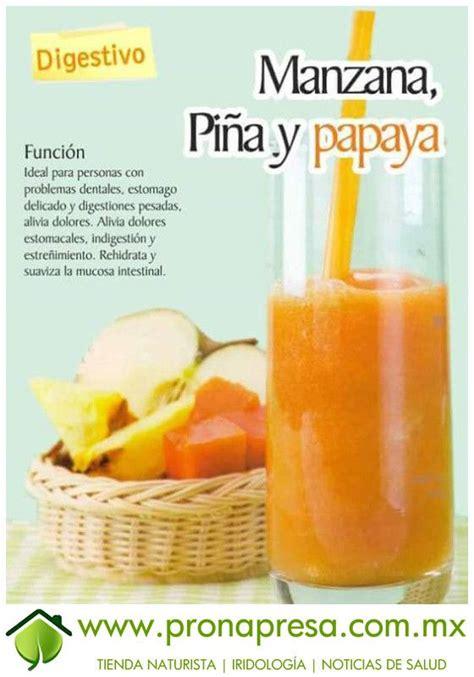 Papaya Detox Drink by Jugo De Manzana Pi 241 A Y Papaya Digestivo