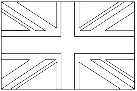 free coloring pages of england flag outline united kingdom union jack flags coloring pages for kids