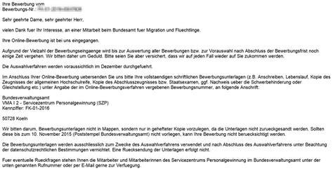 Bewerbungsschreiben Wie Lang Bewerbung Beim Bundesamt Fuer Migration Und Fluechtlinge