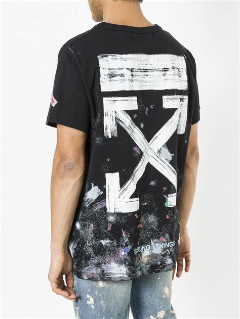 White Shirt Galaxy by Lyst White C O Virgil Abloh Galaxy T Shirt In Black For
