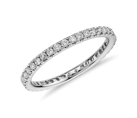 Eternity Ring by Riviera Pav 233 Eternity Ring In 14k White Gold 1 2