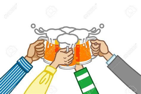 cartoon beer cheers drinking clipart cheer beer pencil and in color drinking