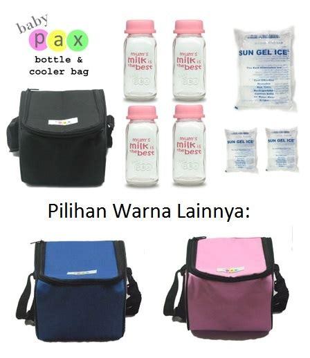 Paket Cooler Bag Baby Pax Set Botol Asi Kaca Set Tas Pendingin Atau Penghangat babypax coolerbag paket botol asibayi