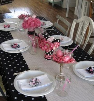 Pink And Black Polka Dot Baby Shower Decorations by Babygirl Shower Baby Shower Crafts Ideas