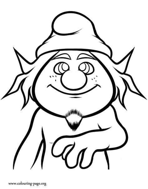 the smurfs hackus coloring page