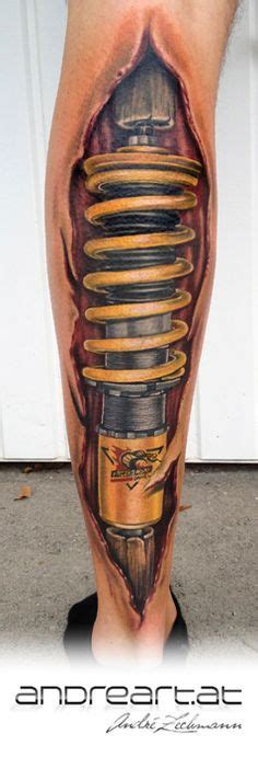 shock leg tattoo 42 shock absorber tattoos ideas designs