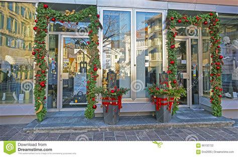 shop entrance with decoration in bad ragaz