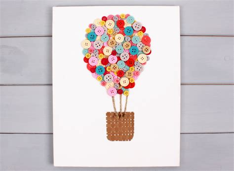 Home S Decor by How To Make An Air Balloon Button Canvas Hobbycraft Blog