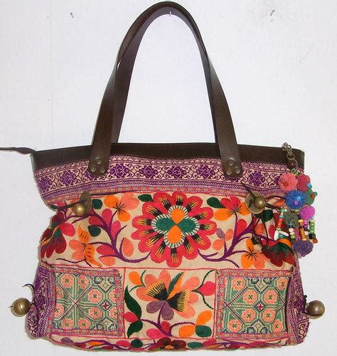 Embroidered Bag by Flower Style Embroidered Bag Collection Nationtrendz