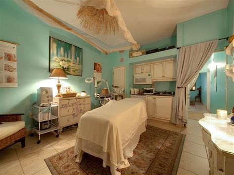 spa room turquoise and cream spa treatment room spa design ideas
