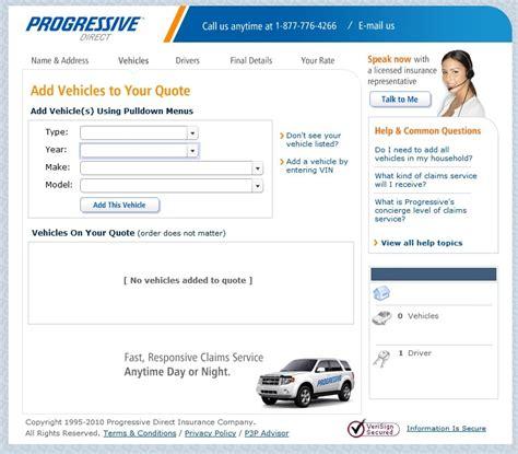 Progressive insurance online quote : Budget car insurance