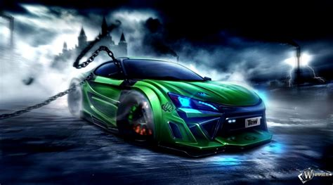 modified cars wallpapers toyota ft 86 modification green wallpaper hd wallpaper