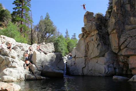 aztec falls  lake arrowhead ca rated   swimming