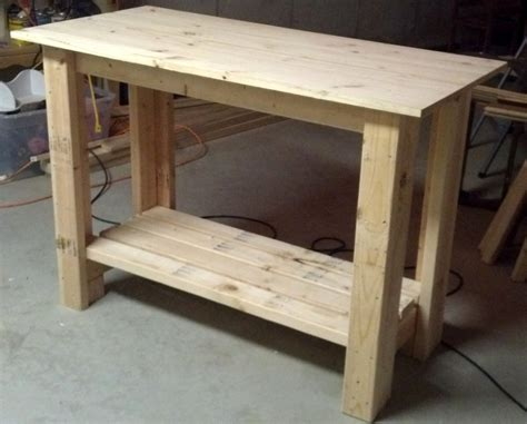 how to build a work table white work bench diy projects