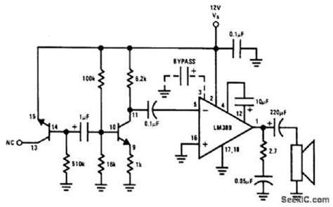 generator diode circuit noise generator signal processing circuit diagram seekic