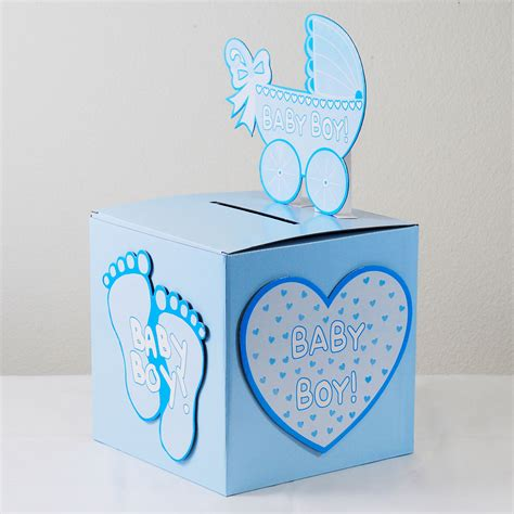 Baby Shower Gift Cards - baby shower wishing well card gift money box pink girl blue boy ebay