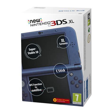 nintendo 3ds xl console sale new 3ds xl metallic blue console consoles zavvi