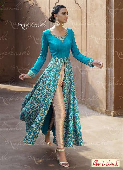 in suite designs energetic embroidered work bhagalpuri silk designer suit
