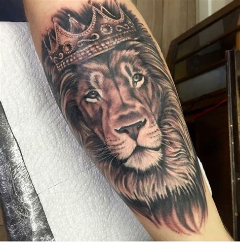 lion with a crown tattoo tattoo collections