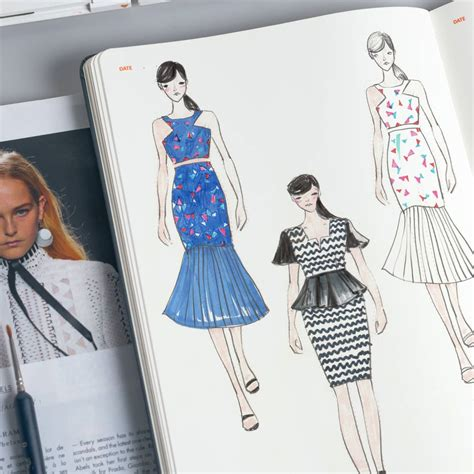 fashion sketchbook with templates womens a4 fashion dictionary sketchbooks and fashion