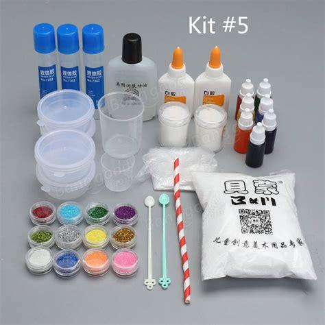 Slime Kit Slime diy slime kit fluffy borax gliter powder glue play