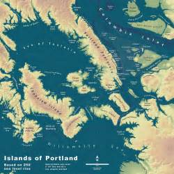 map shows what an underwater portland would look like if