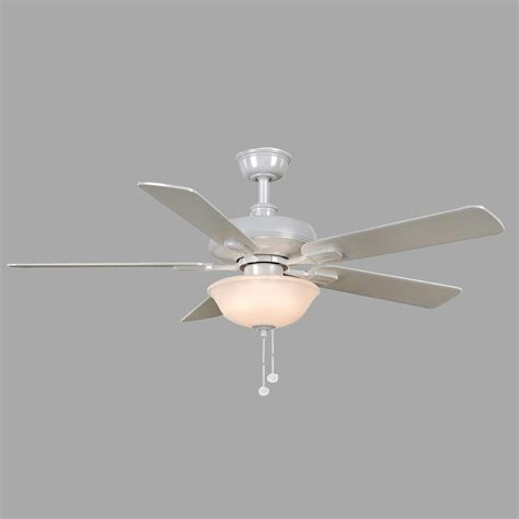 home depot white fan hton bay larson 52 in indoor white ceiling fan with