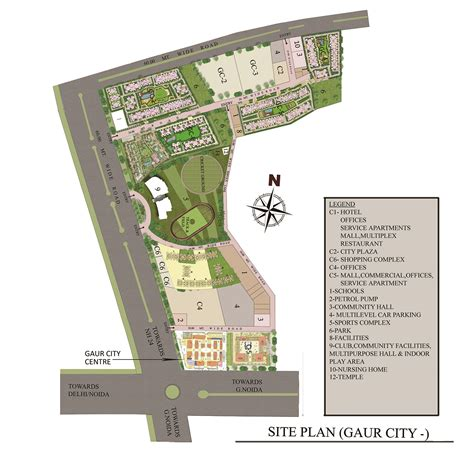 floor plan of gaur city suites service apartments 1st gol retail shops gaur city center phase 2 greater noida west