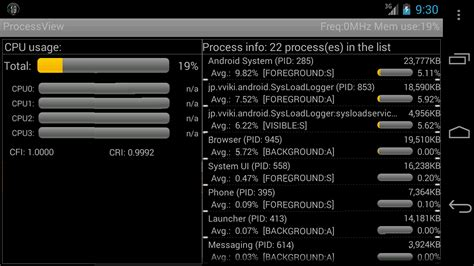 android cpu usage cpu usage process viewer 1 6 3 apk android tools apps