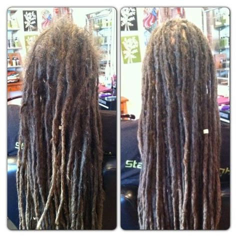 pre dreaded hair extensions before after dreadlock maintenance dollylocks human