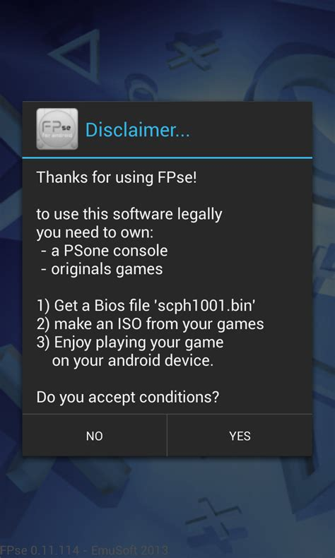 emuparadise fpse instructions for all android devices running game with