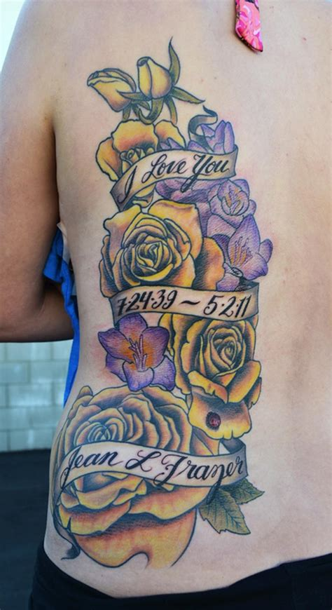 rose memorial tattoos memorial tatt00 by jeff johnson tattoonow