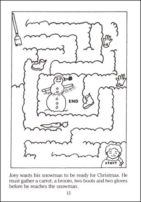 christmas tree activity book printable christmas mazes little activity book 018631 details
