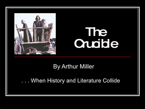 themes in arthur miller literary themes the crucible