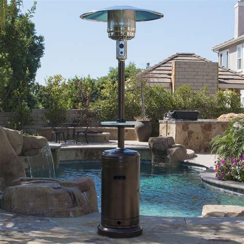 lpg patio heater garden outdoor patio heater w table propane standing lpg