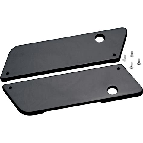 Latch Cover Black black smooth saddlebag latch covers for harley touring bagger c1003 b by covingtons