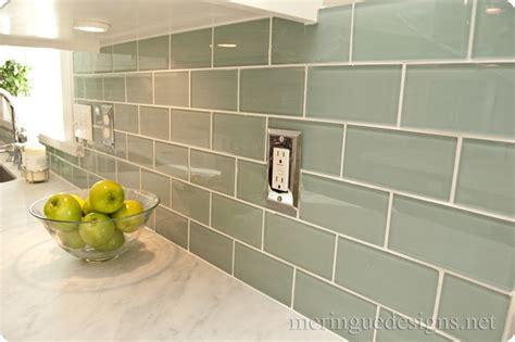Green Subway Tile Kitchen Backsplash Green Subway Tile On Baseball Bathroom Decor